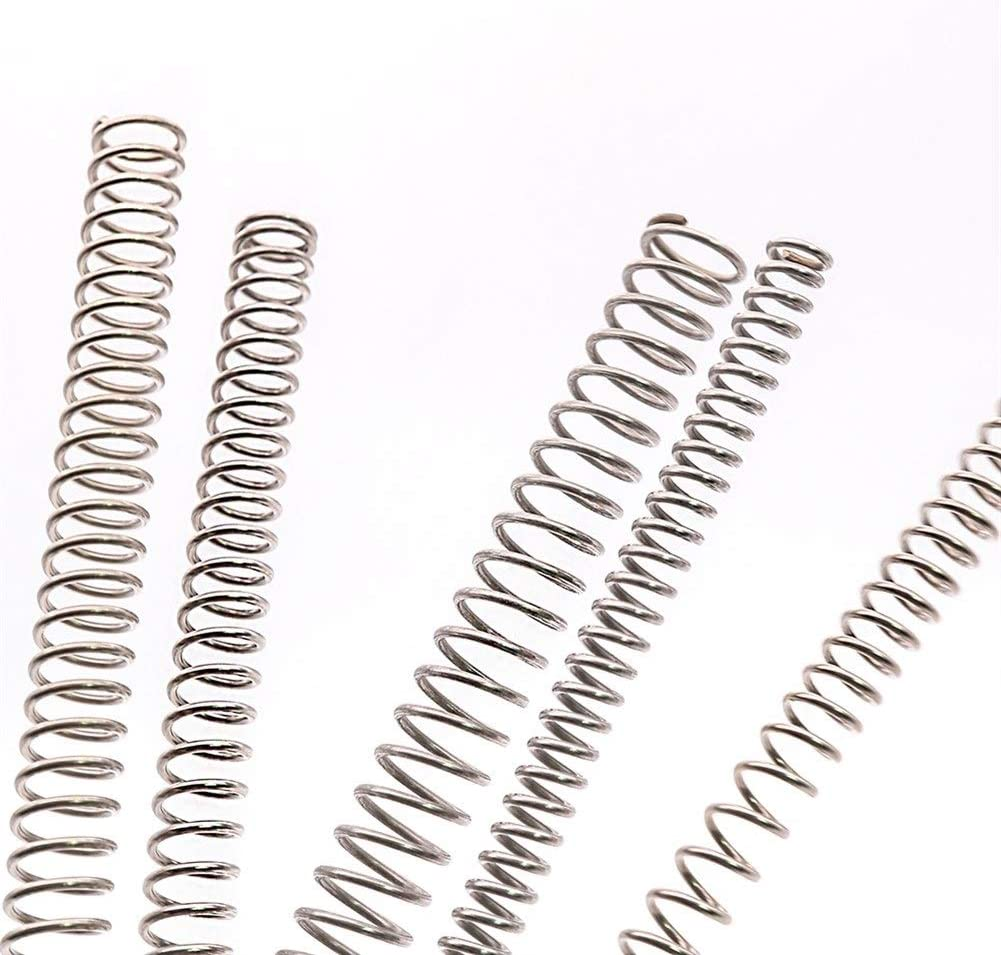 Auart YiLei-Ysp Kits de muelles 1PCS Di/ámetro de Alambre de 1 mm Tipo Y Comprimido Primavera 305 mm Longitud 304 de Acero Inoxidable Resorte de compresi/ón Resistente al /óxido y Duradero