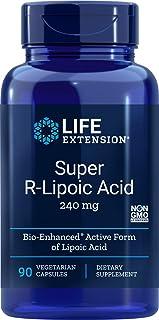 Life Extension Super R Lipoic Acid 240mg, 90 Capsules, Vegetarian