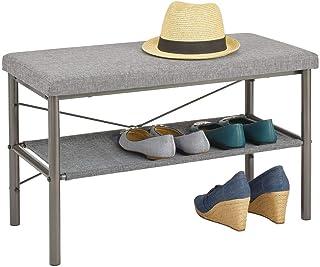 mDesign banc avec porte-chaussures - banc de rangement pour les sandales, baskets, ballerines etc. - banc à chaussures en ...