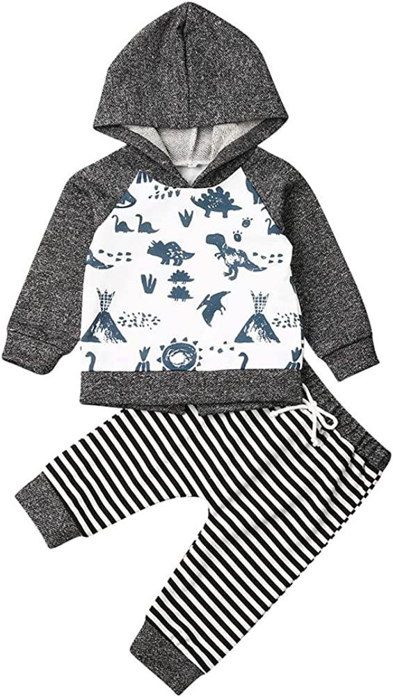 Set di vestiti per bambini e ragazzi felpa con cappuccio Geagodelia con cappuccio e pantaloni e tuta invernale a maniche lunghe