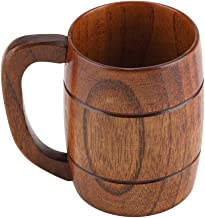 Bierbeker van hout, handgemaakt, van natuurlijk bierpul van hout, milieuvriendelijk, retrosouvenir