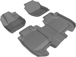 3D MAXpider Complete Set Custom Fit All-Weather Floor Mat for Select Honda HR-V Models - Kagu Rubber (Gray)