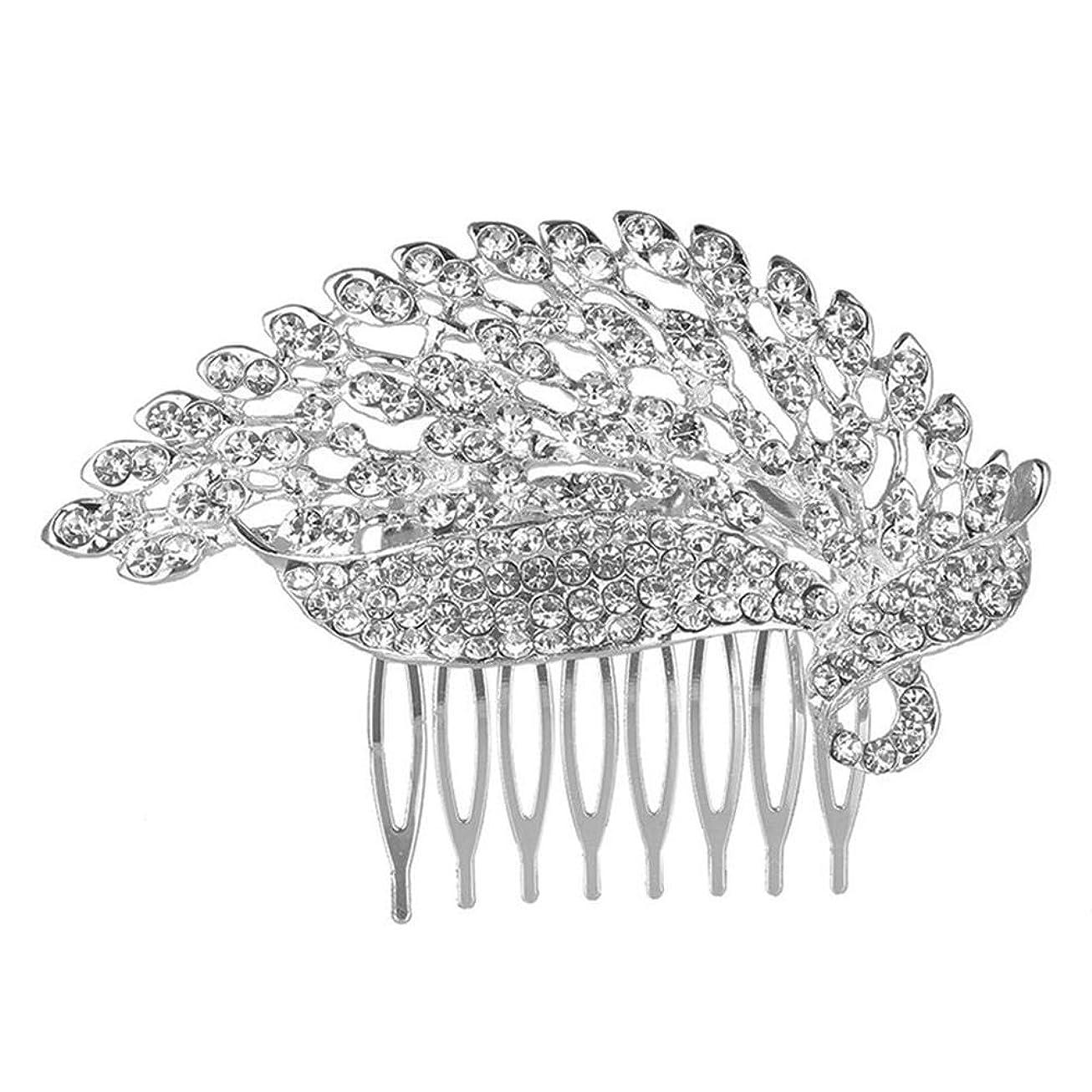 失速鳩良心的髪の櫛の櫛の櫛の花嫁の櫛の櫛の櫛の花嫁の頭飾りの結婚式のアクセサリー合金
