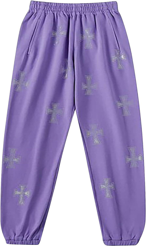 MIVAMIYA Women's Yoga Jogger Pants Floral Print Elastic Waist Workout Lounge Pajamas Pants Comfy Sweatpants with Pockets