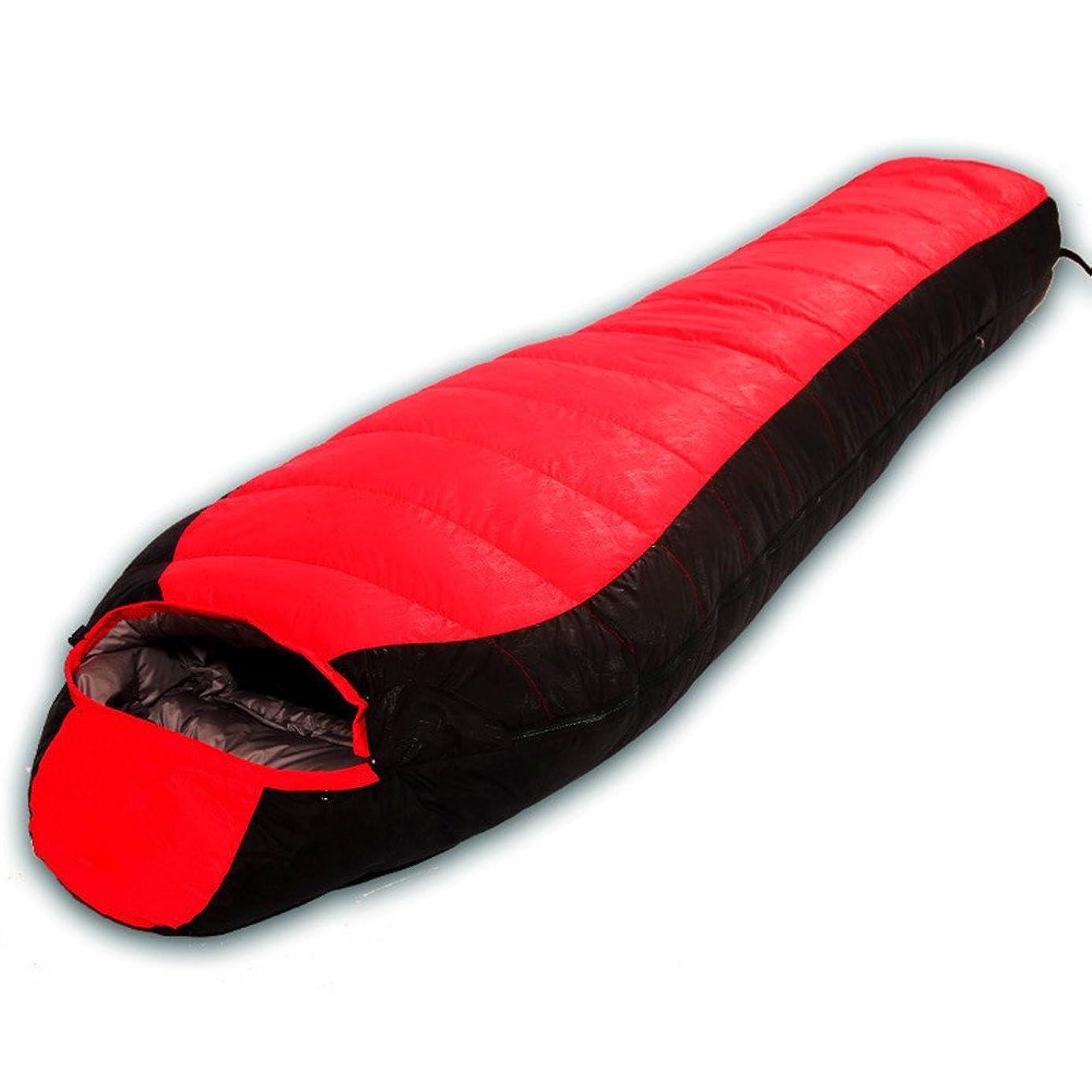 到着するペチュランス行商寝袋 シュラフ スリーピングバッグは、厚いフィルダウン通気性が寝袋アウトドアキャンプ旅行に適した寝袋寝袋キャップ付ウォームフィールドポータブルミイラダブルファイトをキープ コンパクト収納