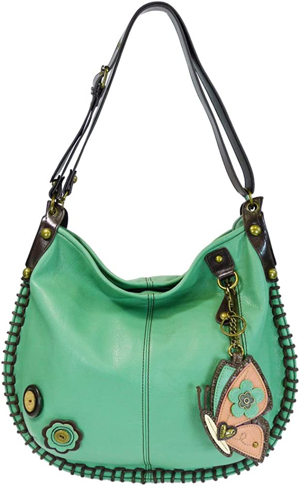Charming Convertible Hobo/xbody Bag (Teal) (Butterfly)