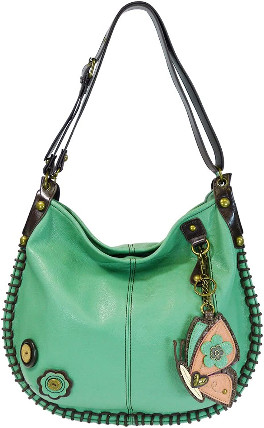 Charming Congreenible Hobo xbody Bag (Teal) (Butterfly)