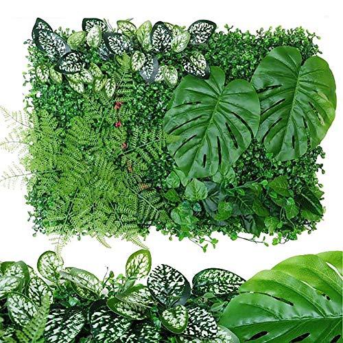 rosemaryrose Wandpaneele Zaun Gras Künstliche Buchsbaum Hecke Hintergrund-40 60CM Künstliche Pflanze Hecke Panel UV-geschützte Privatsphäre Zaun Bildschirm für Outdoor-Garten-Hinterhof