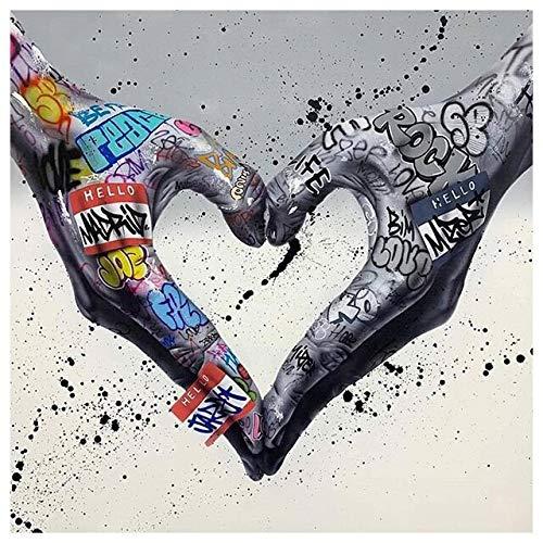 neivy Graffiti Art Abstract Game 5D DIY Diamantmalerei Kristall Strass Stickerei Bild Kunst Farbe Set nach Nummer, Diamantmalerei Kit für Haushalt Wanddekoration (Quadrat 30x30cm)