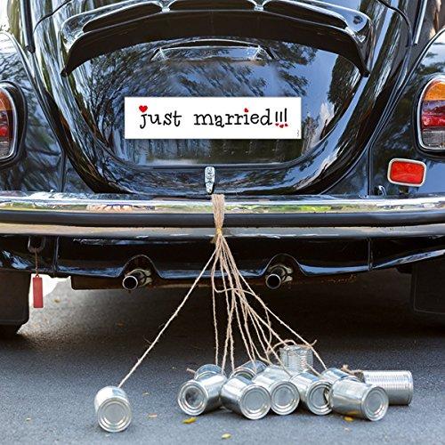 2x Nummernschild Just Married 50x11,5cm für Hochzeitsauto & Brautauto - Schild Hochzeit Schmuck Heiraten