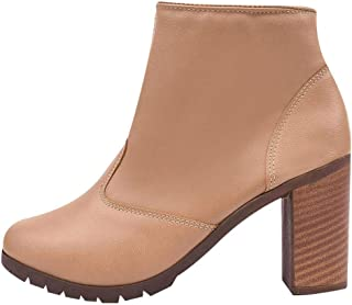Bota Chiquiteira Cano Curto Salto Light Tan SP