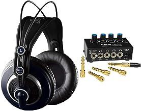 AKG K240 MKII Professional Studio Headphones with Knox Headphone Amplifier Bundle (2 Items)