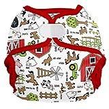 Imagine Baby Products AI2 Shell 2.0 Hook & Loop Diapers, Barnyard Jam