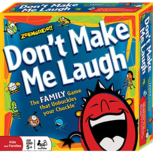Zobmondo!! Don't Make Me Laugh! Silly Charades Party Game, Hilarious Fun for Families and Kids,...