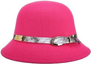 قبعة شمس Wxcgbtym ، قبعات الجاز ، قبعات الرجل ، الصوف الصناعي النساء فيدوراس قبعات مستديرة قبعات بولير (اللون: 4)