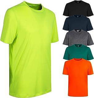 Fancitemy Men's Dry Tee, Short Sleeve Moisture Wicking Athletic Shirts