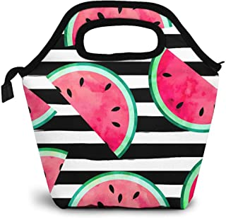 Watermelon Slices Lined Revisable Tote BagOvernight BagAccessory BagSchool Bag