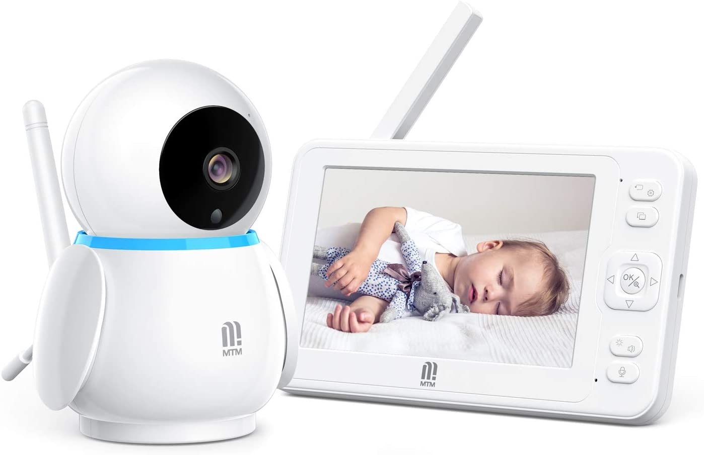 MTM Video Baby Monitor with Camera and Audio no WiFi, 5
