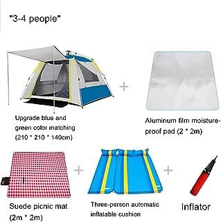自動ポップアップテント、2-3人4シーズン大家族防水軽量バックパッキングテント防雨キャンプ旅行ハイキングクライミング