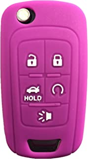 KAWIHEN Silicone Keyless Entry Case Cover Smart Remote Key Fob Cover Protector For Chevrolet Camaro Cruze Equinox Impala Malibu Sonic OHT01060512 KR55WK50073(Purple)