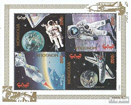Prophila Collection Mongolei 2529-2532 Kleinbogen (kompl.Ausg.) 1994 Erste bemannte Mondlandung (Briefmarken für Sammler) Weltraum
