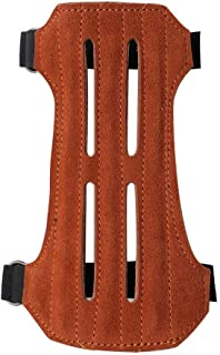 TOPARCHERY Suede Arm Guard 2 Straps Arm Band Protector Gear Hunting Shooting Compound Long Bow Accessories