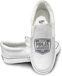 Amone American Ninja Warriory Athletic Unisex Flat Canvas Shoes Sneaker Black