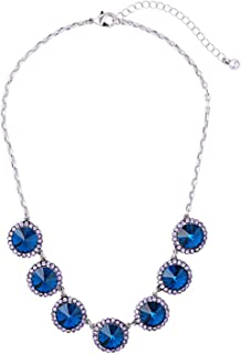 Crystal Bib Statement Necklace Crystal Choker Necklace Costume Jewelry for Women