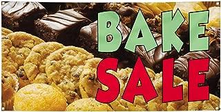 Vinyl Banner Sign Bake Sale Restaurant & Food Bake Outdoor Marketing Advertising Brown - 16inx40in (Multiple Sizes Available), 4 Grommets, One Banner