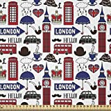 ABAKUHAUS London Stoff als Meterware, Britische englische