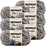 Bernat Blanket Yarn-6/Pk-Dark, 6/Pk, Dark Grey 6 Pack