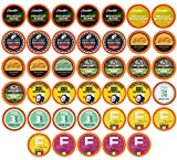 TWO RIVERS Coffee Pods Compatible with 2.0 Keurig K-Cup Brewers, Assorted Variety Sampler Pack, Light Roast, 40 Count (Pack of 1)
