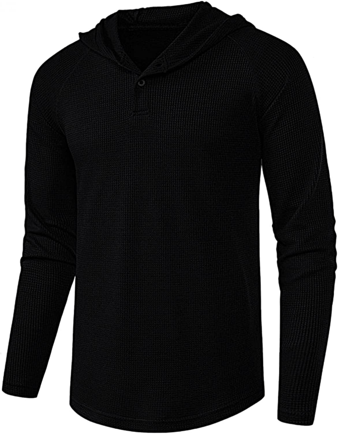 Muyise Men's Henley Shirts Casual Long Hooded Phoenix Mall V Sleeve Neck Mail order Shir