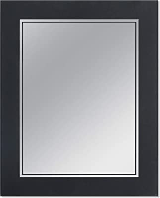Head West Frosted Matte Black Rectangle Wall, 23.5 inches x 29.5 inches Mirror