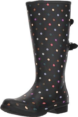 Versa Dot Rain Boot Wide Calf