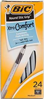 Bic Round Stic Grip Extra Comfort Ballpoint Pens 2, Multi-Colour, 4.15 x 6.99 x 15.24 cm