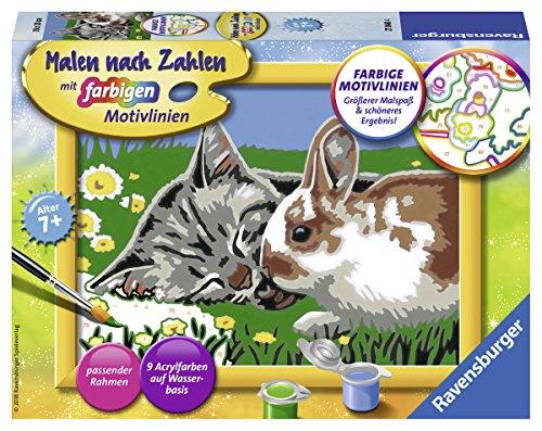 Ravensburger Malen nach Zahlen 27840 - Kätzchen und Häschen