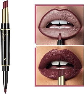 2 in 1 Double-end Lipstick Lipliner - Liquid Lipstick Lip Liner Pencil Gloss for Women Girls - Waterproof Long Lasting Durable Moisturizing Beauty Make-up Cosmetics - 2 kinds 32 colors (B-10)