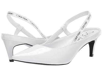 Calvin Klein Greece (White Crinkle Patent) Women