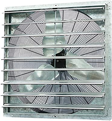"""iLiving - 36"""" Wall Mounted Shutter Exhaust Fan - Automatic Shutter - Single Speed - Vent Fan For Home Attic, Shed, or Garage Ventilation, 6128 CFM, 9000 SQF Coverage Area"""