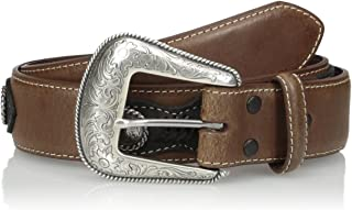Nocona Belt Co. أعلى يد للرجال طبقة جانبية بنية