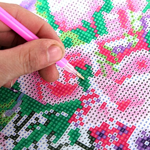 Fairylove 12×12 Diamond Painting Kit Full Animal Looks Cross Stitch Kit Needlework Handmade Embroidery Kit Home Room Decor,White Tiger