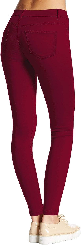 Hybrid Womens Hyper Ultra Stretch Comfy Skinny Pants, Capri, Bermuda at  Women's Clothing store