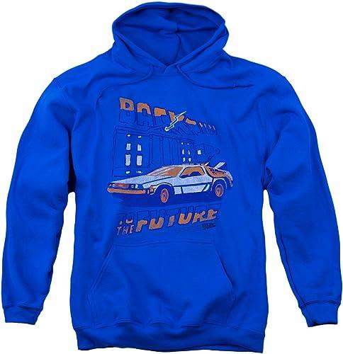 2Bhip Retour à l'avenir La Foudre Pour des hommes sweat à capuche Pull Bleu Royal 3X