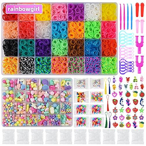18000+ Loom Bands Kit: DIY Rubber Bands Kits , 500 Clips, 40 Charms,Loom Bracelet Making Kits for Kids, DIY Rubber Band Bracelet Kit