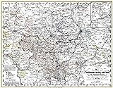 Historische Karte: Das Herzogtum (Herzogthum) Gotha und umliegenden Länder, 1858 (Plano)