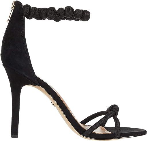 Black Suede Leather/Silk Dupioni