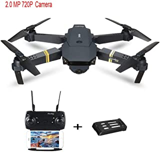 Quadcopters Drone, Jessie storee L800 2MP Drone with 720P Camera for Adults Folded RC Quadcopter Selfie Pocket Mobile App Control Drones, RTF and Easy to Fly for Beginner, US Deliver (Black A)