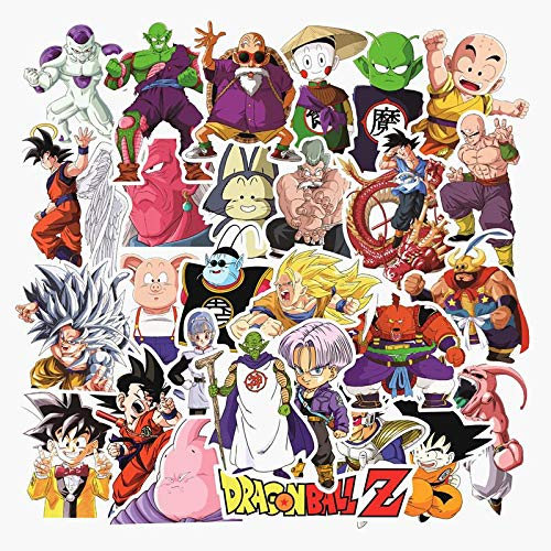 YZFCL Seven Dragon Ball Skateboard Laptop Water Cup Refrigerator Luggage Lever Box Anime Hand Account Sticker Waterproof 100pcs