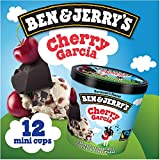 Ben & Jerry's - Vermont's Finest Ice Cream, Non-GMO - Fairtrade - Cage-Free Eggs - Caring Dairy - Responsibly Sourced Packaging, Cherry Garcia, 4 Oz. Mini Cups (12 Count)
